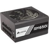 Corsair RMi Series RM650i - 650 Watt 80 PLUS Gold Certified Fully Modular PSU - Internal - 120 V AC, 230 V AC Input - 650 W / 3.3 V DC, 5 V DC, 12 V DC, -12 V DC, 5 V DC - 1 +12V Rails - 1 Fan(s) - 90% Efficiency