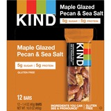 KIND Maple Glazed Pecan/Sea Salt Nut/Spice Bars - Gluten-free, Cholesterol-free, Non-GMO, Individually Wrapped - Pecan, Sea Salt - 39.7 g - 12 / Box