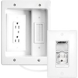 C2G Wiremold In-Wall TV Power Kit - White