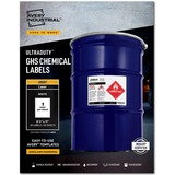 """Avery® UltraDuty(R) GHS Chemical Labels for Laser Printers, Waterproof, UV Resistant, 8-1/2"""" x 11"""", 50 Labels (60501)"""