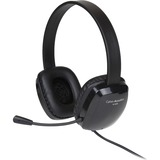 Cyber Acoustics Stereo Headset w/ Single Plug - Stereo - Mini-phone - Wired - 20 Hz - 20 kHz - Over-the-head - Binaural - Circumaural - 6 ft Cable - Noise Cancelling Microphone - Noise Canceling