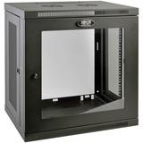 "Tripp Lite SRW12UG SmartRack 12U Low-Profile Switch-Depth Wall-Mount Rack Enclosure Cabinet - For Server - 12U Rack Height x 19"" (482.60 mm) Rack Width x 16.50"" (419.10 mm) Rack Depth - Wall Mountable - Black Powder Coat - Steel - 90.72 kg Maximum Weight"