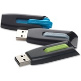 Verbatim 16GB Store 'n' Go V3 USB 3.0 Flash Drive - 3pk - Blue, Green, Gray