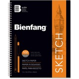 """Bienfang Sketch Book - 100 Sheets - Spiral Bound - 50 lb Basis Weight - 14"""" (355.60 mm) x 11"""" (279.40 mm) - White Paper - 1Each"""