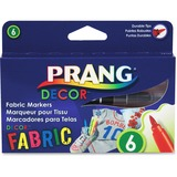 Prang Decor Fabric Markers - Brush Marker Point Style - Assorted - 6 / Box