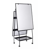 Bi-office Creation Station - Black Frame - Assembly Required - 1 Each