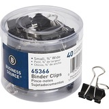 Business Source Small Binder Clips - Small - for Paper, Project, Document - 40 / Pack - Black - Steel, Zinc