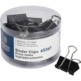 Business Source Medium 24-count Binder Clips - Medium - for Paper, Project, Document - 24 / Pack - Black - Steel, Zinc
