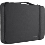 """Belkin Air Protect Carrying Case (Sleeve) for 11"""" MacBook Air - Black - Impact Resistant, Drop Resistant, Shock Absorbing, Tear Resistant, Damage Resistant - Ballistic Nylon - Handle, Hand Strap - 16.90"""" (429.26 mm) Height"""