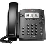 Polycom VVX 311 IP Phone - Desktop - 6 x Total Line - VoIP - Speakerphone - 2 x Network (RJ-45) - PoE Ports - LDAP, SIP, DHCP, SNTP, LLDP-MED, RTCP, RTP, TCP, UDP, SRTP Protocol(s)