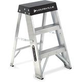 "Louisville 2' Aluminum Step Ladder - 1 Step - 136.08 kg Load Capacity24"" (609.60 mm) - Aluminum"