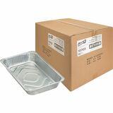 Genuine Joe Full-size Disposable Aluminum Pan - 8.28 L Pan - Aluminum - Cooking, Serving - Disposable - Silver - 50 Piece(s) / Carton