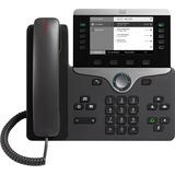Cisco 8811 IP Phone - Wall Mountable, Desktop - Charcoal - VoIP - Caller ID - SpeakerphoneUser Connect License, Unified Communications Manager - 2 x Network (RJ-45) - PoE Ports - SIP, LLDP-PoE, SDP, UDP, RTP, DHCP, GARP, RTCP, PPDP, LLDP, LLDP-MED, ... Pr