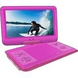 """Ematic EPD121PN Portable DVD Player - 12.1"""" Display - 1366 x 768 - Pink - DVD-R, CD-R - DVD Video, Video CD, MPEG-4 - CD-DA, MP3 - Lithium Polymer (Li-Polymer)"""
