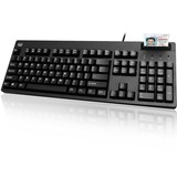 Adesso EasyTouch 630SB - Smart Card Reader Keyboard - Cable Connectivity - USB 2.0 Interface - 104 Key - English (US) - PC - Membrane Keyswitch - Black