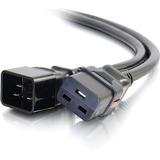C2G 10ft Locking C19 to C20 15A 250V Power Cord Black - 250 V AC / 15 A - Black