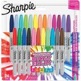 Sharpie Colour Burst Fine Tip Markers - Fine Marker Point - 24 / Pack