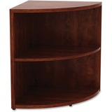 "Lorell Essentials Series Cherry Laminate Corner Bookcase - 29.5"" Height x 23.6"" Width x 23.6"" Depth - Cherry - Laminate, Polyvinyl Chloride (PVC) - 1Each"