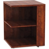"Lorell Essentials Series Cherry Laminate Square Bookcase - 29.5"" Height x 23.6"" Width x 23.6"" Depth - Cherry - Laminate, Polyvinyl Chloride (PVC) - 1Each"