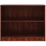 "Lorell Cherry Laminate Bookcase - 29.5"" Height x 36"" Width x 12"" Depth - Cherry - Laminate - 1Each"