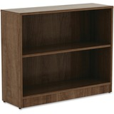 "Lorell Walnut Laminate Bookcase - 29.5"" Height x 36"" Width x 12"" Depth - Walnut - Laminate - 1Each"