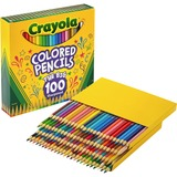 Crayola 100-count Colored Pencils - Unique Colors - Pre-sharpened