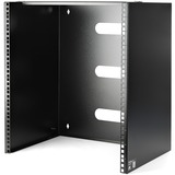 """StarTech.com 12U Wall Mount Patch Panel Bracket - 12 inch Deep - 19"""" Patch Panel Rack for Shallow Network Equipment- 125lbs Capacity (WALLMNT12) - Wall mount equipment that is up to 12in deep such as patch panels or network switches to your wall - 12U - W"""