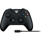 Microsoft Xbox Controller + Cable for Windows - Cable, Wireless - USB - Xbox One, PC, Xbox One S - 19.69 ft (6000 mm) Operating Range - 9 ft Cable