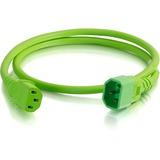 C2G 2ft 18AWG Power Cord (IEC320C14 to IEC320C13) - Green - For PDU, Switch, Server - 250 V AC / 10 A - Green