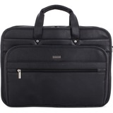 """bugatti Executive Carrying Case (Briefcase) for 15.6"""" Notebook - Black - Synthetic Leather - Shoulder Strap - 11.50"""" (292.10 mm) Height x 16.50"""" (419.10 mm) Width x 8"""" (203.20 mm) Depth"""