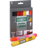 "Dixon Lumber Crayon - 4.50"" (114.30 mm) Length - 0.50"" (12.70 mm) Diameter - Assorted - 1 Pack"