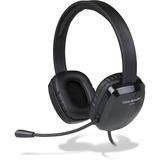 Cyber Acoustics AC-6012 USB Stereo Headset - Stereo - USB - Wired - 20 Hz - 20 kHz - Over-the-head - Binaural - Supra-aural - Black