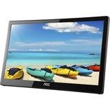 "AOC I1659FWUX 16"" Full HD LED LCD Monitor - 16:9 - Glossy Piano Black - 1920 x 1080 - 262,000 Colors - 220 cd/m² - 25 ms"