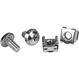 """StarTech.com Rack Screws - 20 Pack - Installation Tool - 12 mm M6 Screws - M6 Nuts - Cabinet Mounting Screws and Cage Nuts - Rack Screw, Cage Nut - 0.47"""" - Silver - 1 Pack - TAA Compliant"""