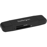 StarTech.com USB 3.0 Memory Card Reader for SD and microSD Cards - USB-C and USB-A - Portable USB SD and microSD Card Reader - SD, MultiMediaCard (MMC), microSD, SDHC, SDXC, microSDHC, microSDXC - USB Type C, USB 3.1 1.95 TB Flash DriveExternal - 1 Pack