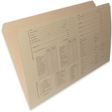 ALL-STATE LEGAL Top Tab Manila Folders, Straight Cut Reinforced Tab, Printed Legal, 14 pt., Straight Cut Reinforced Tab, Manila File Folder printed with Dual Case History form, Recycled, 10% PCW, 100/BX