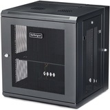"""StarTech.com 12U Wall Mount Server Rack Cabinet - 4-Post Adjustable Depth (2.4"""" to 15.7"""") Network Equipment Enclosure w/ Cable Management (RK12WALHM) - Use this wall mount network cabinet to mount your server or networking equipment to the wall with a hin"""