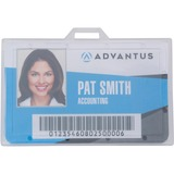 Advantus Clear ID Card Holders - Horizontal - Plastic - 25 / Pack - Clear