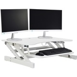 "Lorell Adjustable Desk Riser Plus - 18.14 kg Load Capacity - 9"" (228.60 mm) Height x 34.50"" (876.30 mm) Width x 27"" (685.80 mm) Depth - Desktop - White"