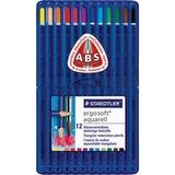 Staedtler Ergosoft Watercolour Pencil Set - 3 mm Lead Diameter - 12 / Set