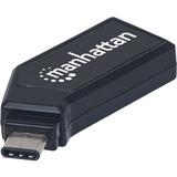 Manhattan USB-C Mini Multi-Card Reader/Writer - 24-in-1 - SD, SDHC, SDXC, MultiMediaCard (MMC), microSD, microSDHC, microSDXC - USB 2.0 Type CExternal