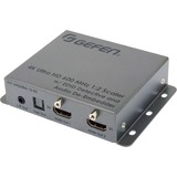 Gefen 4K Ultra HD 600 MHz 1:2 Scaler w/ EDID Detective and Audio De-Embedder - Functions: Video Scaling, Audio De-embedding - 4096 x 2160 - USB - Audio Line Out - 1 Pack