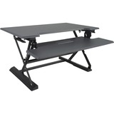 "Victor High Rise Height Adjustable Standing Desk with Keyboard Tray (36"" , Gray)"