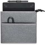 """Wacom Carrying Case (Sleeve) Tablet - Ash Gray - Genuine Leather Trim, Woven Trim - 0.70"""" (17.78 mm) Height x 8.30"""" (210.82 mm) Width"""