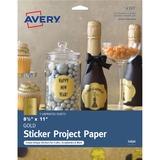 "Avery® Inkjet Print Printable Adhesive Paper - Letter - 8 1/2"" x 11"" - 3 / Pack - Gold"