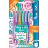 Paper Mate Flair Candy Pop Pens - Medium Pen Point - Felt Tip - 6 / Pack