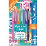 Paper Mate Flair Candy Pop Pens - Medium Pen Point - Felt Tip - 12 / Pack
