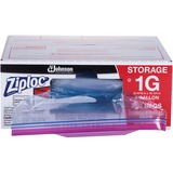 """Ziploc® Brand Double Zipper Gallon Storage Bags - Large Size - 3.79 L - 10.56"""" (268.29 mm) Width x 10.75"""" (273.05 mm) Depth - 2.70 mil (69 Micron) Thickness - Clear - Plastic - 250/Carton - Food, Vegetables, Fruit, Cosmetics, Yarn, Business Card, Map,"""