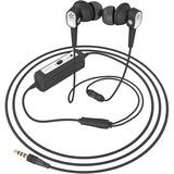 Spracht Konf-X Buds In-Ear Headset - Stereo - Wired - Earbud - Binaural - In-ear - Noise Canceling - Black, Silver
