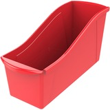 "Storex Book Bin Set - 7"" Height x 5.3"" Width - Red - Plastic - 5 / Set"